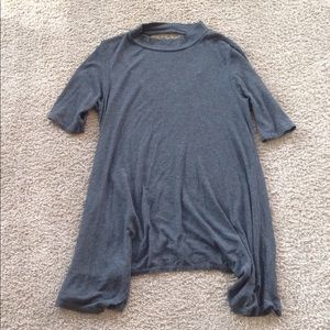 Acemi, gray tunic top, size S